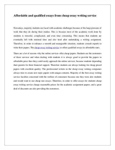 Cheap essay writing service canada centre