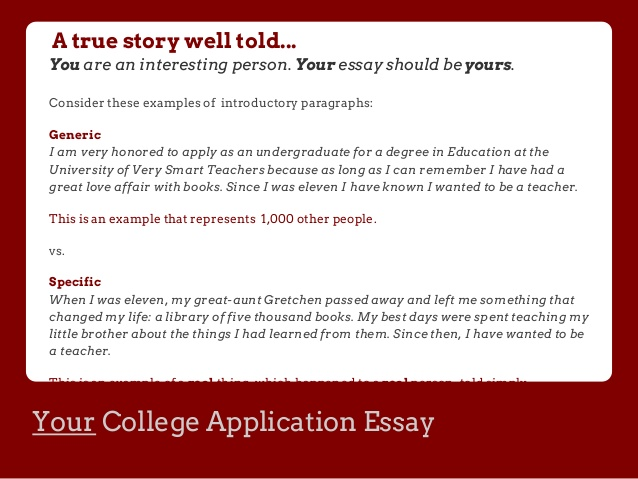 How To Start A College Admission Essay Questions