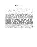 My dream house essay