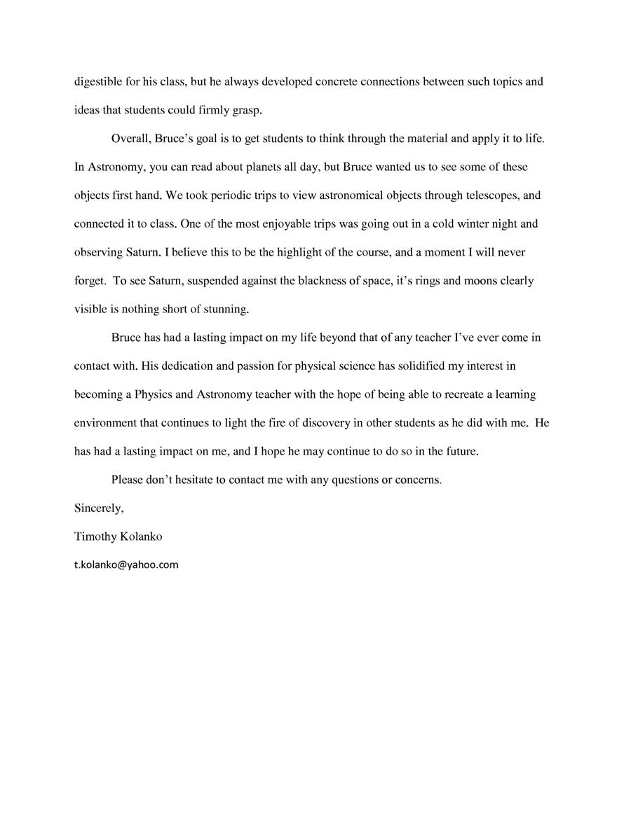 Sample Teacher Recommendation Letter For College from petelevin.com